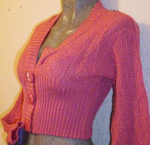 torera sweter jacket bolero tejido punto unitalla moda spo