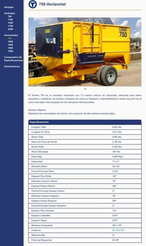 tormex ensilador mezclador 750