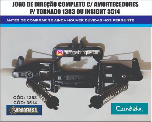 tornado 1381 candide - jogo de direção com amortecedores
