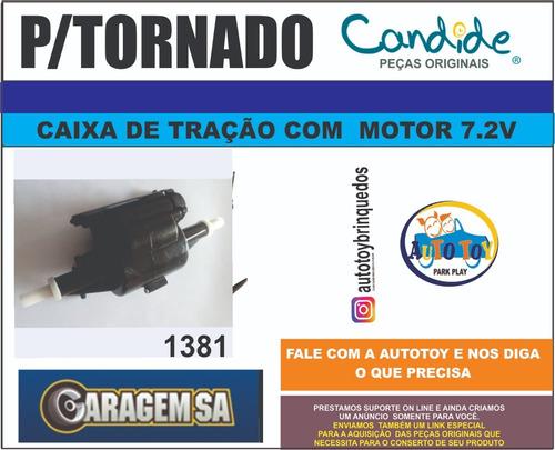 tornado 1381 candide - só a caixa tração completa motor 7.2v