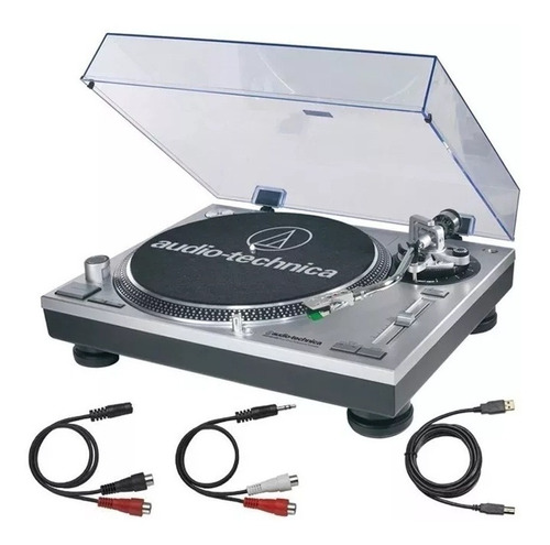 tornamesa at-lp120 usb, color silver, audiotechnica