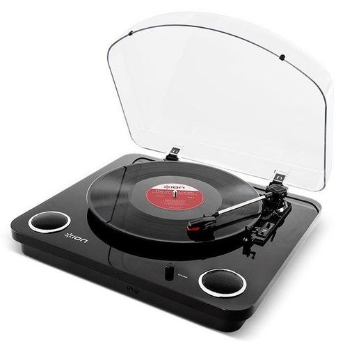 tornamesa ion max lp black bandeja giradiscos stereo usb