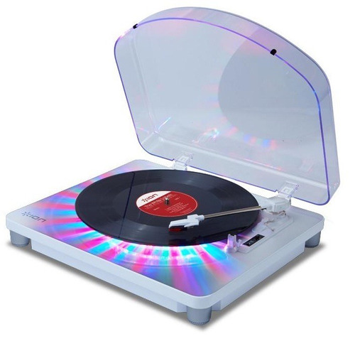 tornamesa ion photon lp bandeja giradiscos multi led usb