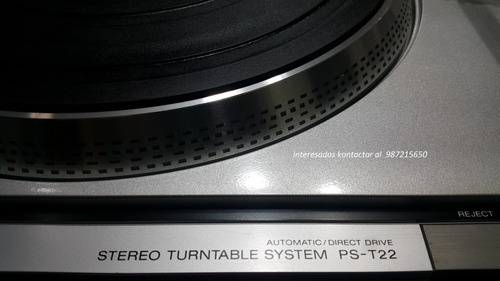 tornamesa para discos de vinilo sony  ps-t22  vendo urgente