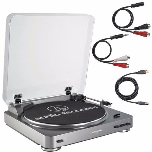 tornamesa tocadisco at-lp60-usb audiotechnica (envío gratis)