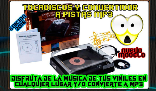 tornamesa tocadiscos oye tus discos lp y digitaliza a mp3
