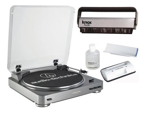 tornamesa usb audio technica at-lp60-usb y kit de limpieza