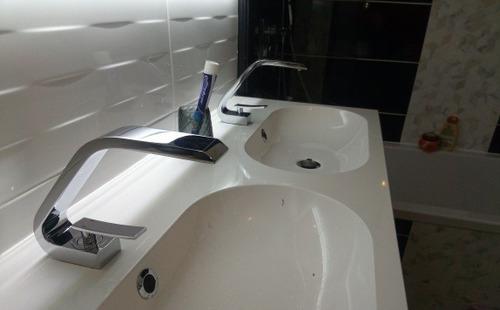 torneira banheiro lavabo misturador monocomando luxo onda