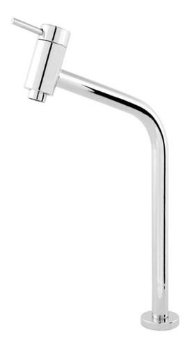 torneira banheiro metal inox bica média 45° link lavatório