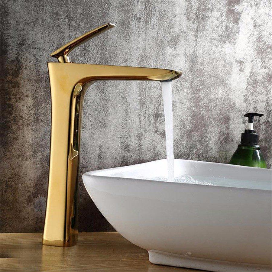 Torneira Banheiro Metal Misturador Dourada Cuba Elevada  R$ 479,90 em Mercad -> Cuba Elevada Banheiro