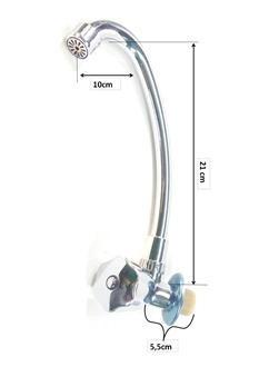 torneira bica móvel  para parede c-50