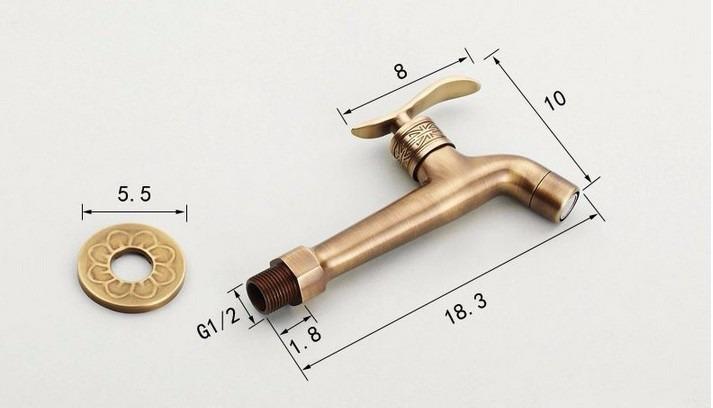 Torneira Bronze Vintage Lavabo Retr Parede Banheiro Pia Cuba  R$ 191,99 em M -> Cuba Para Banheiro Bronze