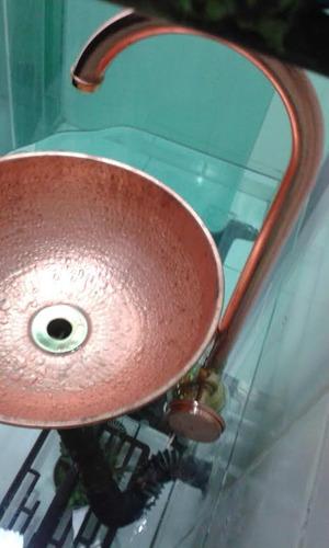 torneira cobre original e cuba de cobre