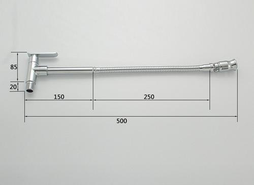 torneira cozinha gourmet flexível parede