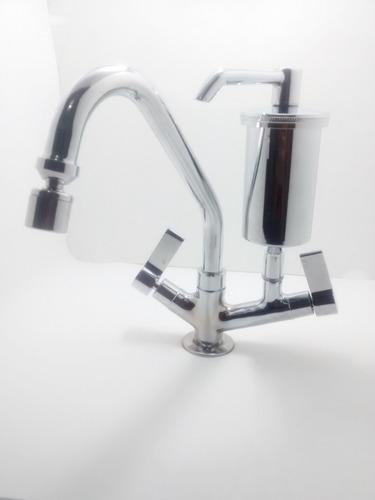 torneira cozinha luxo com filtro em metal 1/4 de volta