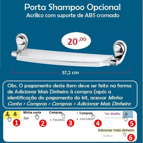 torneira cromada + kit  5 assessórios para banheiro