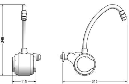 torneira elétrica versátil lorenzetti - cromada