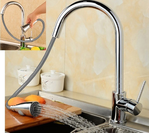 torneira goumet monocomando pull down cozinha metal cromado