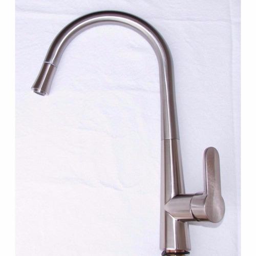 torneira gourmet em aço escovado c/ ducha extensível