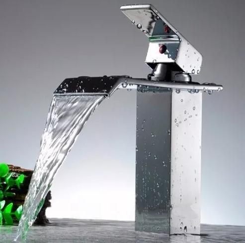 torneira misturador monocomando cascata alta metal