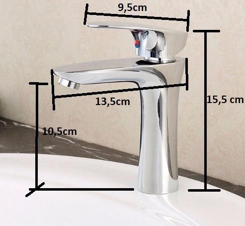 torneira monocomando banheiro misturador metal cromado nova