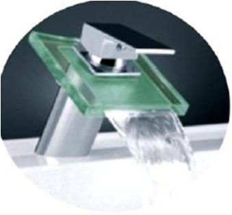 torneira monocomando em vidro - modelo monaco bica baixa