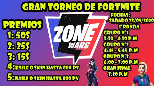 torneo de fortnite zone wars!