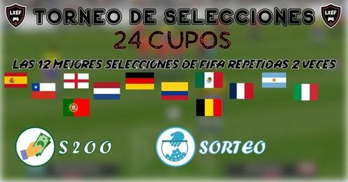 torneo fifa 20 selecciones