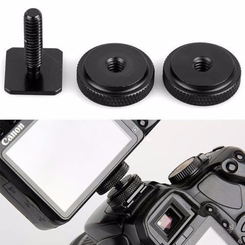 tornillo adaptador de 1/4   para zapata de flash en cámara