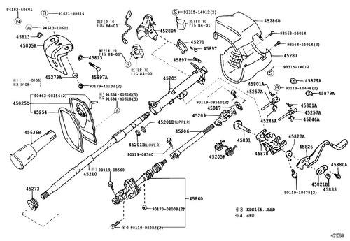 tornillo componente de direccion toyota 90119-08560
