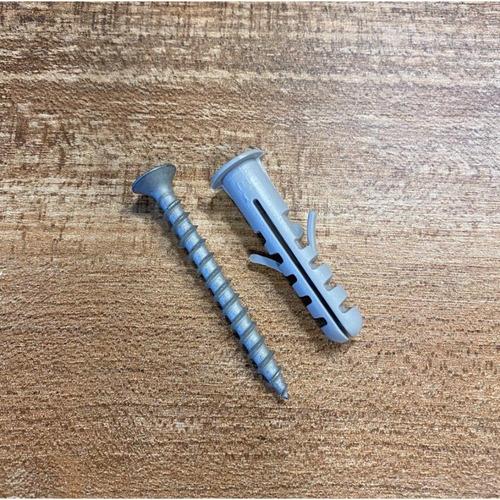 tornillo fix de 5,2mm x 50mm + tarugo c/tope de 8mm (20 unid