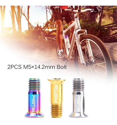 tornillo para bicicleta de titanio m5×14.2 2pcs