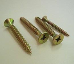 tornillo para madera fix 3x16 zincado dorado x 1000 ud!!!