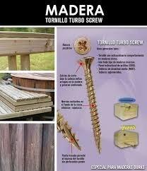 tornillo turbo screw #10[5.0]x50 144 un mamut ferrepernos
