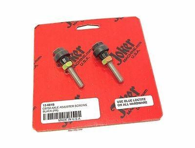 8mm CB500 CB550 CB750 12-081B Black Joker Machine Cafe Axle Adjuster Screws