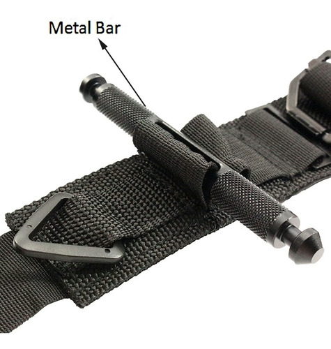 torniquete táctico con barra metálica.