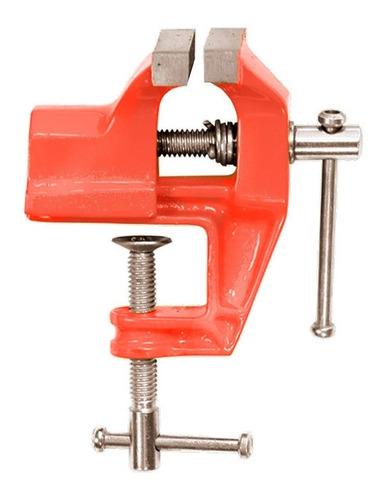 torno de bancada aço base fixa mini morsa 75mm - sparta