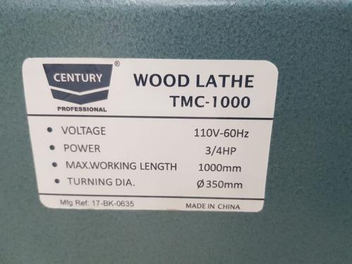torno de madera century tmc 1000 3/4 1480x225x370  6hf5100