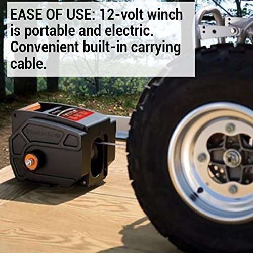 Portable 12-Volt DC Electric Winch Master Lock Electric Winch 2953AT