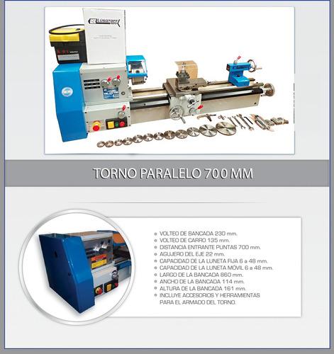torno mecanico paralelo lusqtoff 700 mm ideal talleres