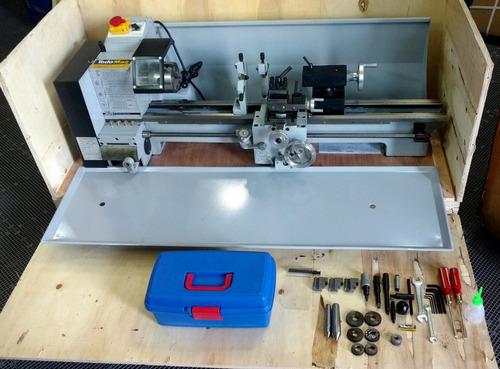 torno mecanico paralelo para metales 750mm motor 1hp nuevo