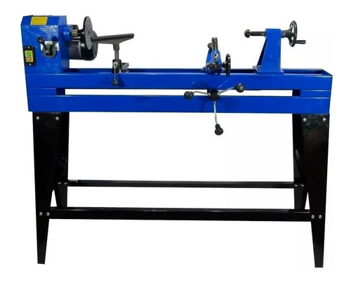 torno para madera con copiador y banco 1000mm 550w kld