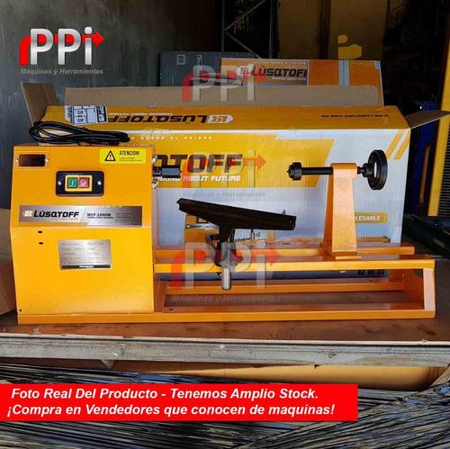 torno para madera mini 375w plato  1000mm 4 velocida plegabl