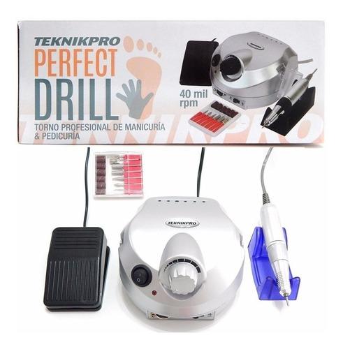 torno para manicura y pedicura perfect drill teknikpro