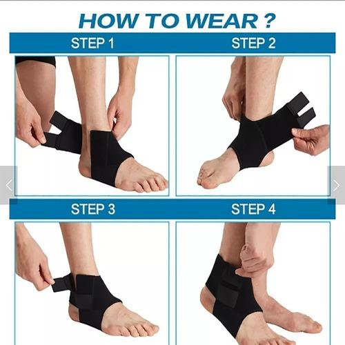 tornozeleira compressao ajustavel futsal anti dor neoprene
