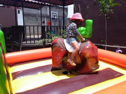 toro mecanico - inflable