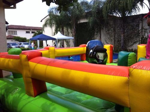 toro mecanico inflable trampolin granizadora