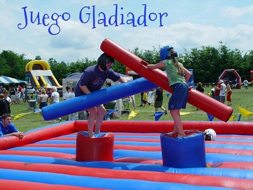 toro mecanico, jump down, gladiador y juegos para adultos