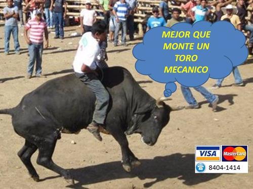 toro mecánico puedesl pagar con tarjeta credito