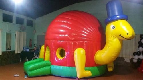 toro mecánico, tortuga inflable, castillo, caras pintadas ..